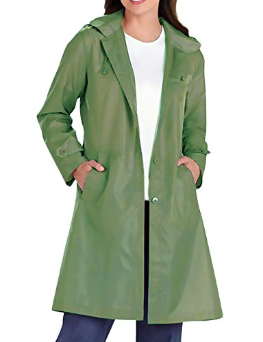 Mujer Abrigos Con Capucha Tallas Grandes Impermeables Elegantes Fiesta Parka Encapuchado Chaquetas Manga Larga Transpirable Unisex Gabardinas Ropa Coat Outcoat Botones Biker Outdoor Verde