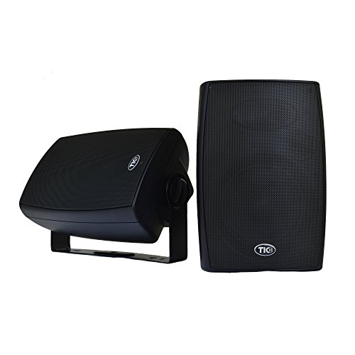TIC BPS6-B 6.5″ Outdoor Weather-Resistant Bluetooth Patio Speakers (Pair) – Black