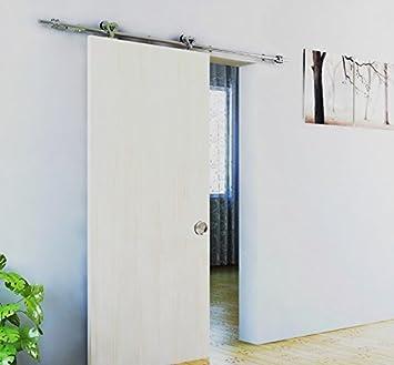 BD de STK # Níquel Satinado cepillado acero inoxidable sus304 moderna Scheunen de madera puerta corredera hardware montar para almacenamiento ropa, habitación, Padres Dormitorio, perchero, Oficina, ventanas, Tiendas, gran Movilidad gebiete: Amazon.es: