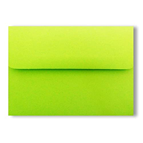 bright lime green a7 25 pack 5 1 4 x 7 1 4 invitation envelopes