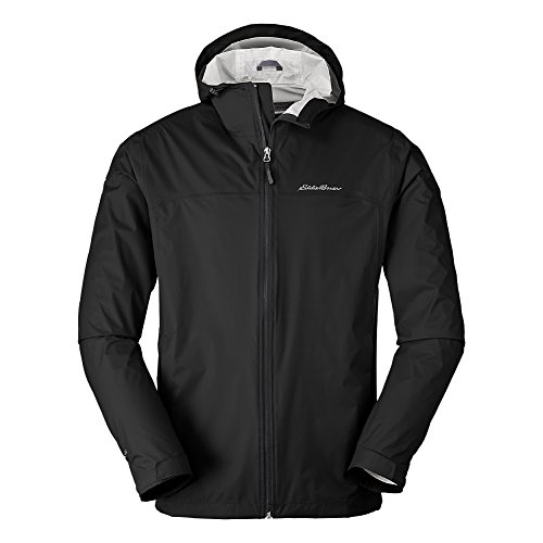 Eddie Bauer Men's Cloud Cap Lightweight Rain Jacket, Black Regular M