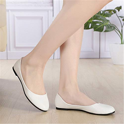shoes ladies shallow FLYRCX fashion comfortable shoes Black Spring bottom shoes single autumn mouth and soft flat work qpXBxX4t