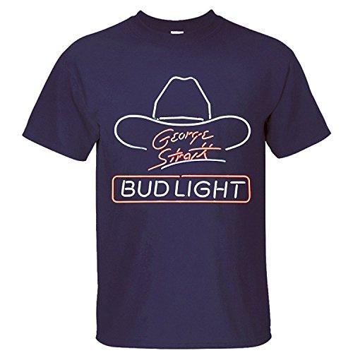 XTMTM Men's George Strait Bud Light T-Shirt dark blue M