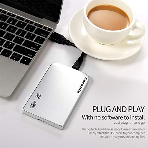 [Mollikar] Mobile Hard Disk,H-6 HDD 2TB Metal Case USB 3.0 Laptop Mobile Hard Drive for Windows System ()