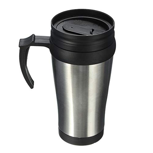 - Pure Silver Cup - Stainless Steel Car Travel Tumbler Water Coffee Tea Cup 450ml Silver Black - Disposable Kids Book Puzzle Been Coffee Containers Japanese Strainer Mold Orchid Insulated Pupp