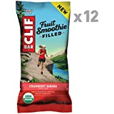 Clif Fruit Smoothie Filled - Organic Energy Bar - Strawberry Banana - (1.76 Ounce Protein Snack Bar, 12 Count)
