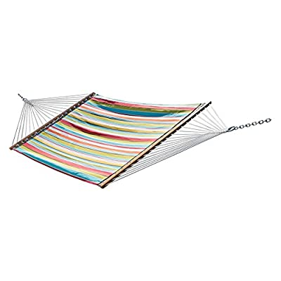 Vivere Quilted Double Fabric Hammock - Dimensions: 156L x 54W x 2H in. Made of polyester Holds 2 people - patio-furniture, patio, hammocks - 41G6yWus29L. SS400  -