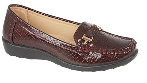 Jo & Joe Womens Flats Snakeskin Print Deck Boat Loafers Moccasins Driving Shoes Size 3 4 5 6 7 8 Wine