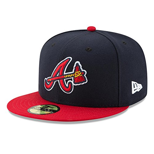 New Era Cap Co,. Inc. Men's 70361067, Navy, 7.25 (New Braves Atlanta Era)