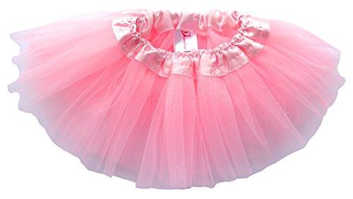 Dancina Tutu Baby Toddler Fluffy Soft Satin Elastic Waist Ballet Tulle Pettiskirt 6-24 months Pink (Cute Halloween Cakes Birthday)
