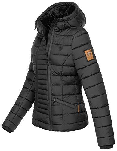 B656 Noir Fourrure Pour Chaude D'hiver En Navahoo Femme Veste Et THwT4d