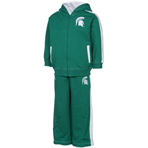 UPC 673676752667, NCAA Infant/Toddler Boys' Michigan State Spartans Hooded Jogset, Green, 24 Months