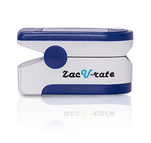 Zacurate Pro Series 500DL Fingertip Pulse Oximeter Blood Oxygen Saturation Monitor with silicon cover, batteries and lanyard (Mystic Black) by Zacurate (Image #5)