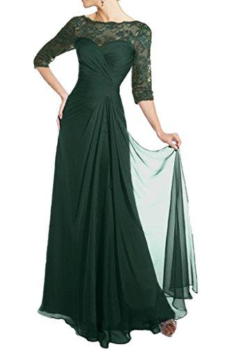 Partykleider Brautmutter Dunkel Spitze La Gruen Abendkleider Neuheit Marie Glamour Formale Langarm Chiffon Tanzenkleider Braut UnTqw84
