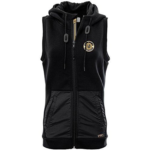 NHL Vegas Golden Knights Adult Women Iris Banner Stripe Full Zip Hooded Vest, Large, Black