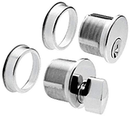 C.R. LAURENCE DRA1020PS CRL Polished Stainless Keyed Cylinder and Thumbturn Combo (Cylinder Thumbturn Stainless)