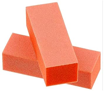 TNBL Orange/White 3 Way Nail Buffer Block 100/180 Grit - 5 Pieces