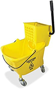 Genuine Joe GJO02347 Side Press Wringer Mop Bucket, Yellow