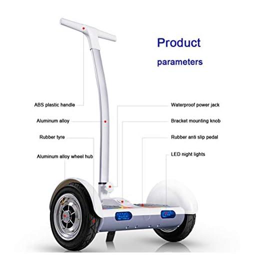 ZXY 10 » Scooter Hoverboard dérive, Scooter électrique 2 Roues avec Main Courante, Hoverboard électrique Auto-équilibrant pour Moto Intelligente