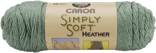 Caron Simply Soft 100% Acrylic Heather Yarn ~ WOODLAND HEATHER # 9503 ~ 5 oz. Skeins by the - Woodland Green Acrylic