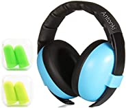 Kid Earmuff, Baby Ear Protection Earmuffs Safety Noise Cancelling Earmuff with 2 Pairs Earplugs for Kids (1 Mo