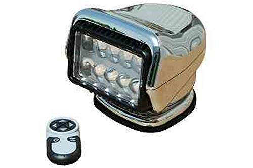 Golight Stryker Wireless Remote Control Spotlight with handheld remote - Permanent Mount - Chrome