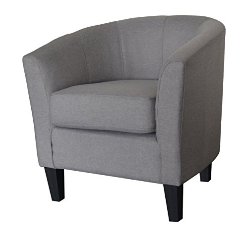 US Pride Furniture Madge Contemporary Fabric Accent Chair, Dark Grey
