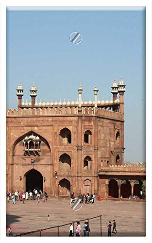 (Single-Gang Blank Wall Plate Cover - Red Fort India Architecture Palace Culture)