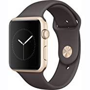 Apple watch series 2 42mm ALUMINUM Case SPORT (Gold Aluminum case with cocoa sport band)