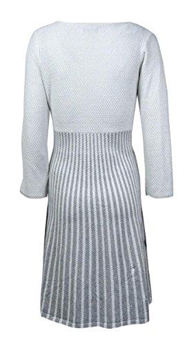 Calvin Klein Boule Éclat Féminin Robe Pull Col Blanc / Gris