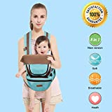 BABY CARRIER with HIP SEAT for 0-36 Months Ergonomic Baby Carrier Hiking Backpack Up to 50 Pounds Adjustable Baby Carrier with 8 Comfortable & Safe Positions for Infant