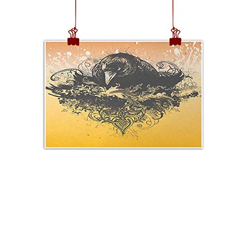 duommhome Black Printed Wall Art Oil Painting Halloween