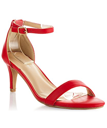 Womens Leather DOrsay Kitten Sandals product image