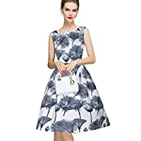 DIEGO Women's Crepe 1-Piece Western Frock Dress