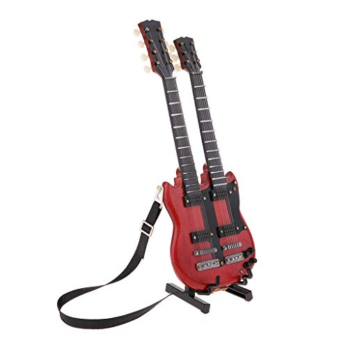 NATFUR Dolls House Miniature 1/6 Musical Instruments - Electric Guitar Double Deck from NATFUR