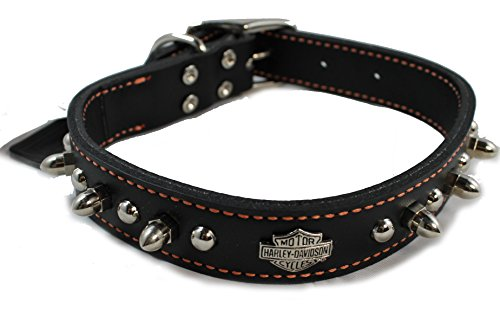 "Harley Davidson Leather Spiked Collar 1"" x20"""
