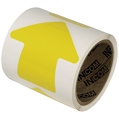 Incom Manufacturing: 4'' Vinyl Arrow, Yellow, (Roll of 100) by Incom