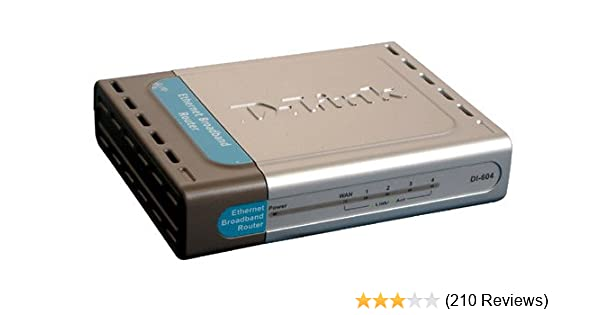 D-Link DI-604 Wired 10//100 MBPS Ethernet Broadband Router 4-Port NEED AC ADAPTER