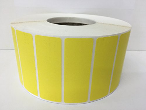 1 Roll 3.5x1.25 YELLOW Thermal Transfer 5000 Labels Per Roll 3