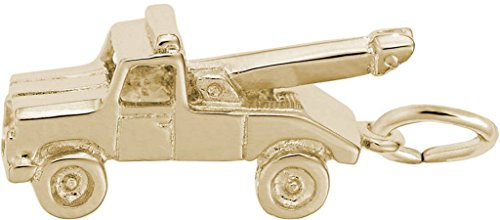 Rembrandt Tow Truck Charm - Metal - Gold-Plated Sterling - Charm Gold Truck Plated