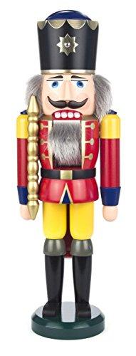 Seiffener Volkskunst King Nutcracker, red, 39 cm high