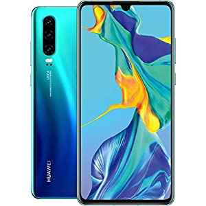 Huawei P30 ELE-L29 128GB Hybrid Dual Sim Unlocked GSM Phone w/Triple (40 MP + 16 MP + 8 MP) Camera – Aurora