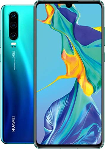 Huawei P30 ELE-L29 128GB Hybrid Dual Sim Unlocked GSM Phone w/Triple (40 MP + 16 MP + 8 MP) Camera - Aurora ()