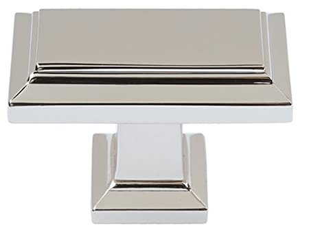Atlas Homewares 290 Pn 1 1/2 Inch Sutton Rectangle Knob, Polished Nickel by Atlas Homewares