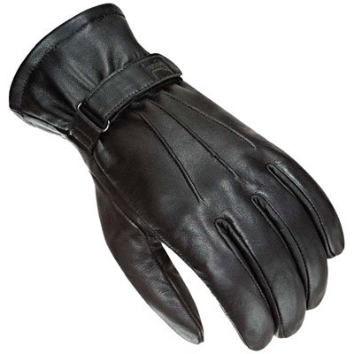Power-Trip Jet Black Women's Leather Harley Touring Motorcycle Gloves - Black/Perforated / X-Small