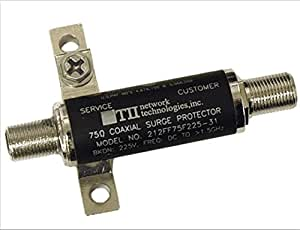 TII Network Technologies 212FF75F225-21 75 Ohm Female To Female Connector Lightning Surge Protector Coaxial Cable