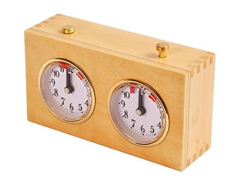 Regulation Wooden Mechanical Chess Clock