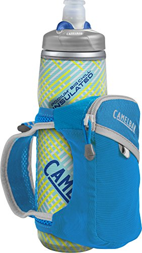 CamelBak Quick Grip Chill Handheld Water Bottle, Atomic Blue/Silver, One Size ()