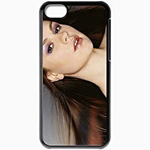 Personalized iPhone 5C Cell phone Case/Cover Skin Anna Paquin Black