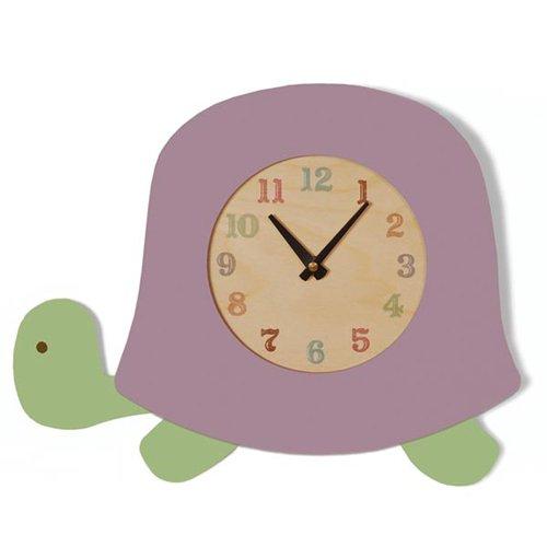 Tree by Kerri Lee Turtle Clock, Lavender CLOCK TURTLE LAV